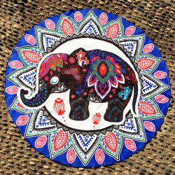 Thaïlande Elephant Mandala Plage Round Throw - Royal