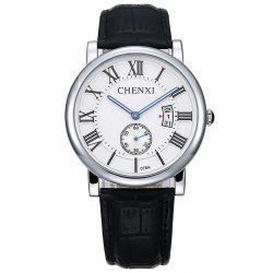 CHENXI Roman Numerals Analog Date Watch - WHITE