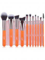11 Pcs Fiber Makeup Brushes Set with Brush Bag