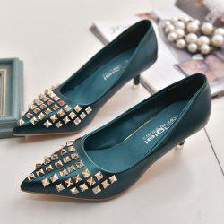 Pointed Toe Metal Rivets Pumps