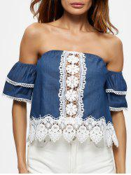Ruffle Sleeve Off The Shoulder Blouse -
