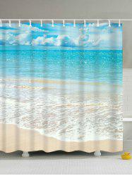 Beach Scenery Water Resistant Anti-bacteria Shower Curtain