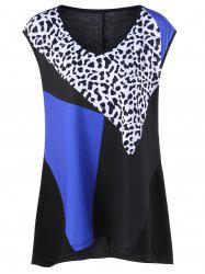 Leopard Print Plus Size Tank Top