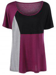 Color Block Plus Size Top