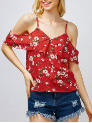 Floral Ruffle Cami Top