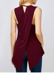 Asymmetrical Sleeveless Top