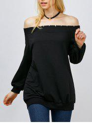 Off The Shoulder Long Sleeve Tee -
