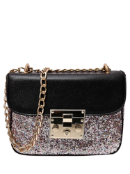 Sequins Panel Cross Body Mini Bag