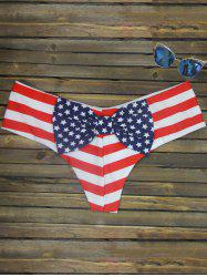 Bowknot Print Swim Briefs -