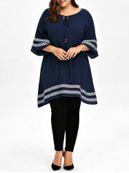 Plus Size Embroidered Tunic Top