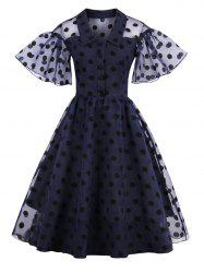 Polka Dot Vintage Pin Up Dress