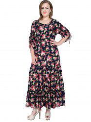 Floral Plus Size Long Prom Dress
