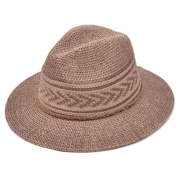 Affordable Breathable Braided Rope Straw Jazz Hat