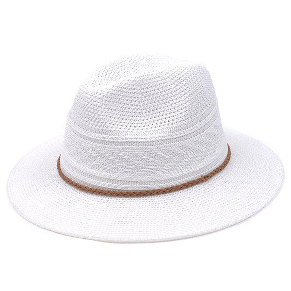 Fashion Breathable Braided Rope Straw Jazz Hat