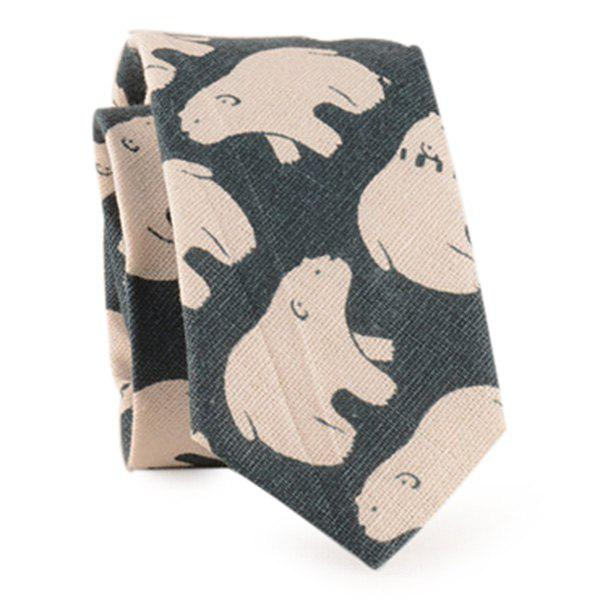 Latest Polar Bear Printed Neck Tie