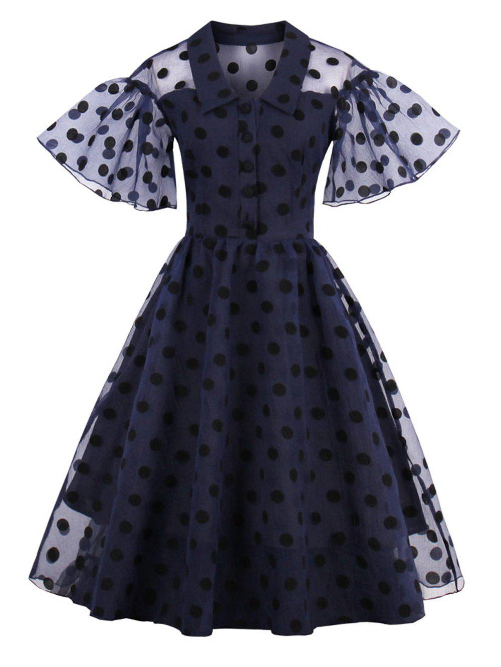 Unique Polka Dot Vintage Pin Up Dress