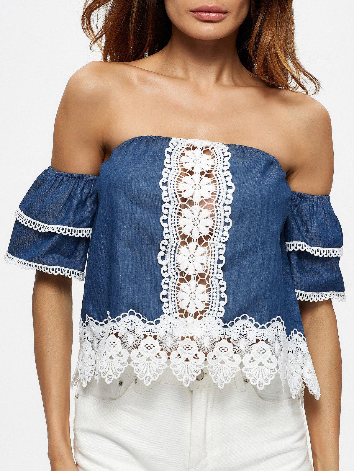 Outfits Ruffle Sleeve Off The Shoulder Blouse