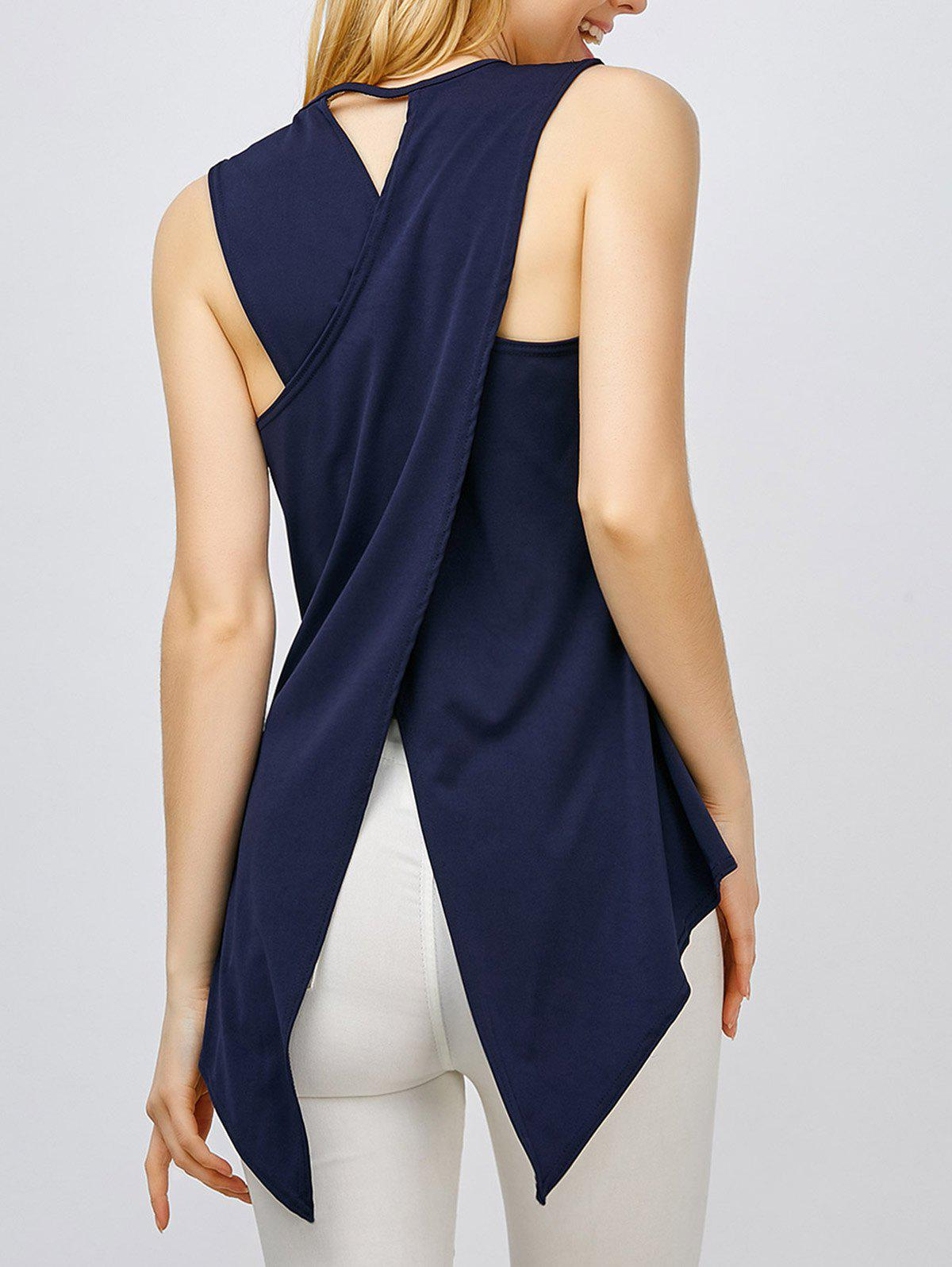 Fancy Asymmetrical Sleeveless Top