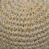 Color Block Straw Fedora Hat with Flouncing - LIGHT BROWN