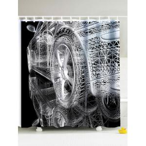 Modern Car Mouldproof Shower Curtain with Hooks