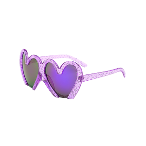UV Protection Design Heart Shape Beach Sunglasses - Purple