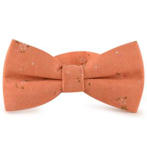 Tiny Floral Printed Cotton and Linen Bow Tie