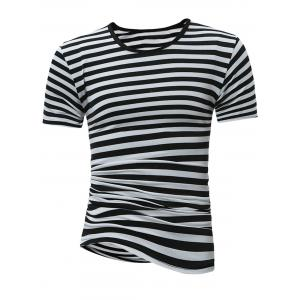 Crew Neck Stripe Tee
