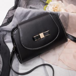 Flap Bow Cross Body Bag - Black - 39