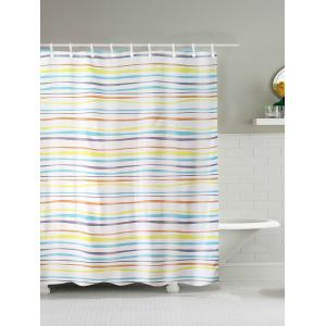 Stripe Water Repellent Polyester Shower Curtain - Colormix - 180*200cm