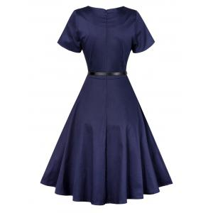 Vintage Short Sleeve Swing Skater Dress -