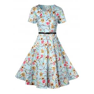 Retro Knee Length Pin Up Dress