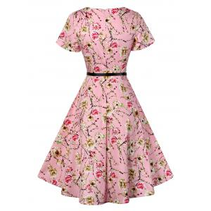 Retro Knee Length Pin Up Dress -