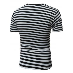 Crew Neck Stripe Tee -