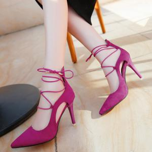 Mini Heel Pointed Toe Pumps -