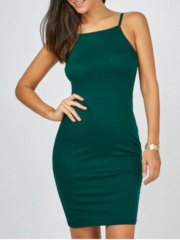 Buy Mini Cami Tank Bodycon Bandage Dress GREEN XL