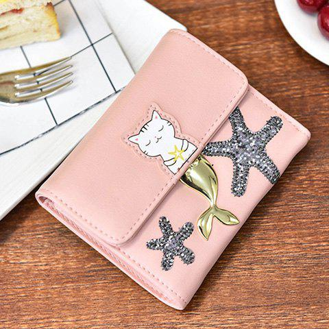 Buy Sequied Starfish Tri Fold Small Wallet - PINK  Mobile