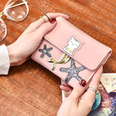 Shops Sequied Starfish Tri Fold Small Wallet - PINK  Mobile