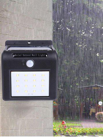 16 LEDs Solar Powered Motion Sensor Waterproof Yard Wall Light - Colormix