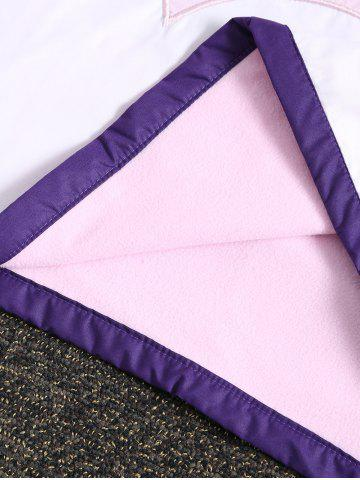 Shop Wavy Ombre Cotton Fleece Mermaid Throws and Blankets For Kids - 150*60CM PURPLE Mobile