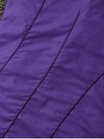 Fancy Wavy Ombre Cotton Fleece Mermaid Throws and Blankets For Kids - 150*60CM PURPLE Mobile