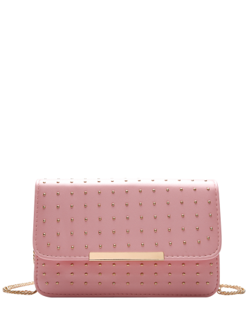 Latest Cross Body Chains Rivet Bag PINK