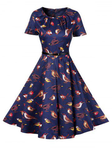 Trendy Retro Knee Length Pin Up Dress