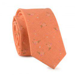 Tiny Floral Printed Neck Tie
