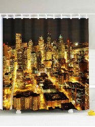 Night Scene of City Eco-Friendly Polyester Shower Curtain