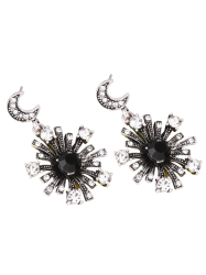 Rhinestone Star Moon Sun Earrings