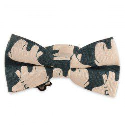 Polar Bear Printed Cotton and Linen Bow Tie