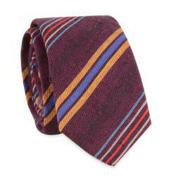 Irregular Sloping Stripe Neck Tie