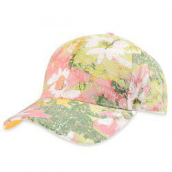 Summer Floral Baseball Hat - ORANGE YELLOW