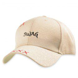 Letters Embroidery Adjustable Baseball Cap