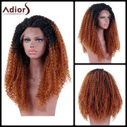 Adiors Long Colormix Side Part Kinky Curly Shaggy Lace Front Synthetic Wig
